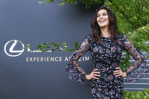 Megan Gale at the Lexus Marquee