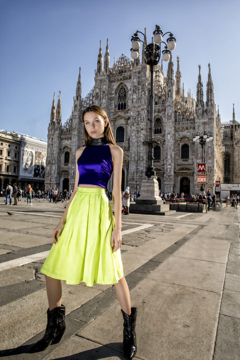 Dont do pretty shoot with Sara Mitic in Milan