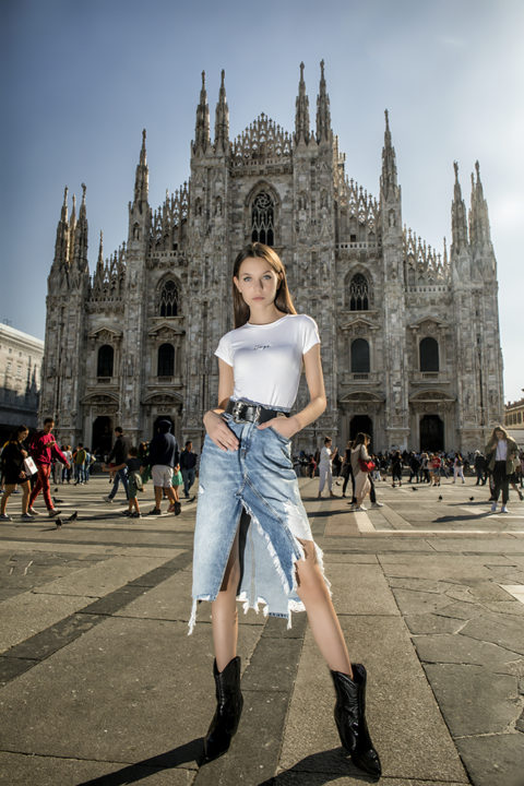 Kaye Collection shoot with Sara Mitic in Milan