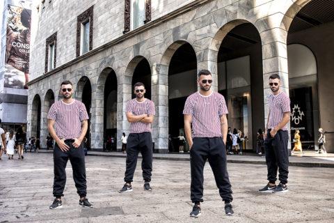 Kaye Collection shoot in Milan