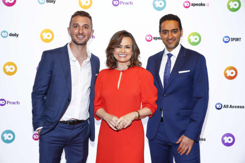 Tommy Little, Lisa Wilkinson and Waleed Aly